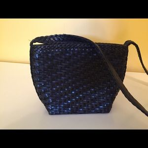 Vintage L.J.S. Collection woven leather bag.